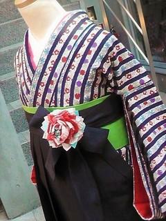 下北沢で卒業袴の着付け♪