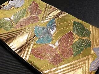 漆箔蝶々の袋帯レンタル