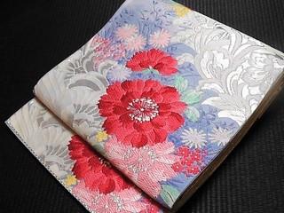 唐織花模様袋帯リサイクル