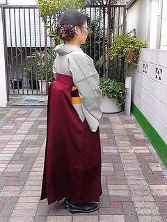 縞着物と袴
