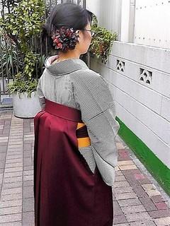 ストライプ着物と袴