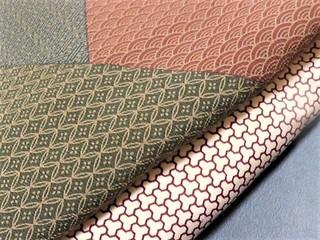 袴レンタル用、切り嵌め江戸小紋と毘沙門亀甲